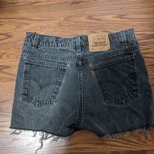 Levi's Shorts - Levi's charcoal denim shorts